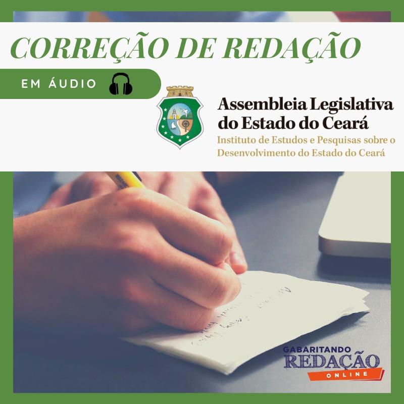 CURSO DE REDAÇÃO PREPARATÓRIO PARA O CONCURSO AL-CE + BÔNUS CURSO TEÓRICO / (CICLO 1)