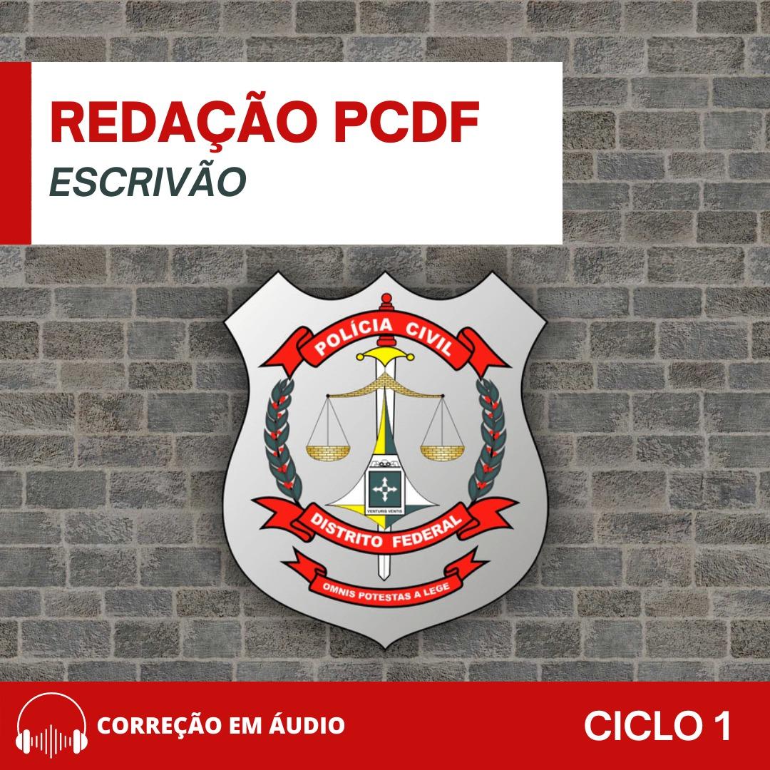 CURSO DE REDAÇÃO PREPARATÓRIO PARA O CONCURSO DA POLÍCIA CIVIL DO DISTRITO FEDERAL PCDF (CARGO ESCRIVÃO)