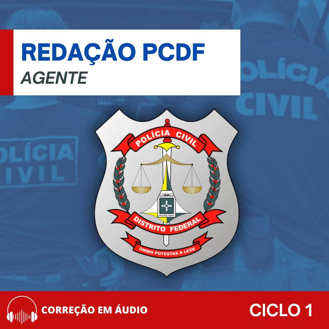 CURSO DE REDAÇÃO PREPARATÓRIO PARA O CONCURSO DE AGENTE DA PCDF + BÔNUS CURSO TEÓRICO / CICLO 1